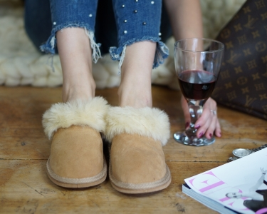 Womens Sheepskin Shearling Slippers Boots for Women House Sheepskin Slippers Handmade Shoes 100% Wool Slippers ugg style Best