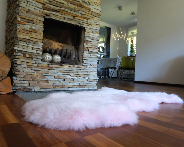 "BIG SHEEPSKIN PINK Area Rugs Throw Genuine leather Sheep Skin 50"" x 28"" Decorative rug Natural comfy area rugs outdoor fur rug"